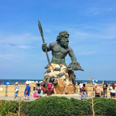 Virginia Beach oceanfront statue
