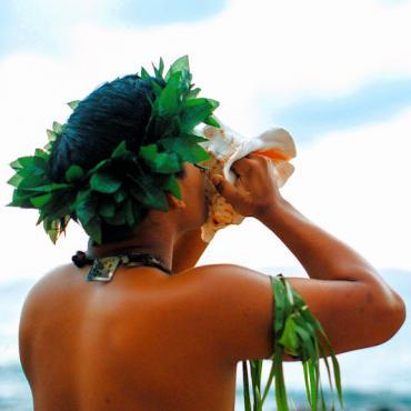 Hawaii conch blower Photo Credit Marriott.com