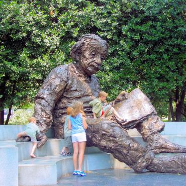 DC Einstein Statue Credit Destination DC