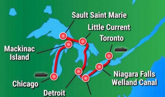Victory Cruises Great-Lakes-Grand-Discovery-map