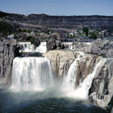 Large water falls ID