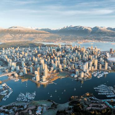 Vancouver aerial Credit Destination BC Thomas Hill