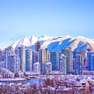 Snowy Vancouver Skyline Photo Credit Tourism Vancouver Clayton Perry
