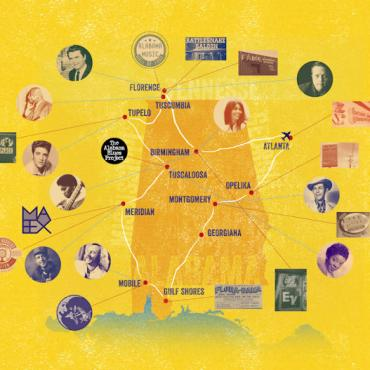 Alabama Music Trail map