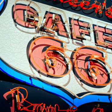 Route 66 Cafe sign Photo Courtesy of Eaglerider
