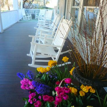 Rocking chairs on porch NE