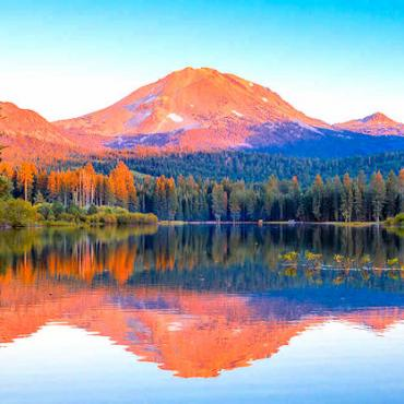 CA _lassenvolcanic NP manzanita lake Photo Credit Visit California