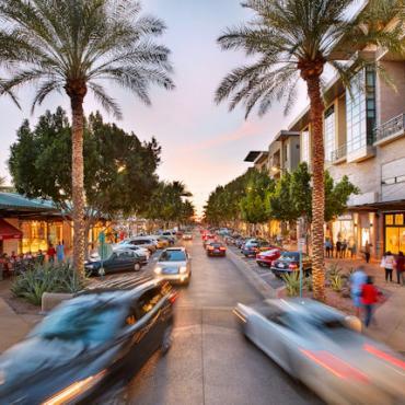 AZ Scottsdale Cars on the street at Kierland Commons Photo Credit Kierland Commons