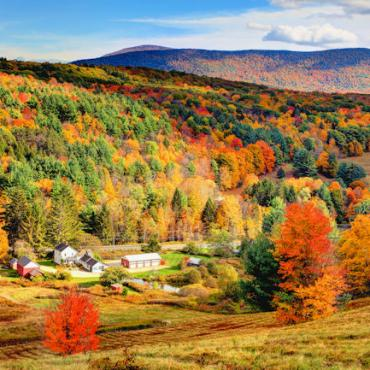 Mass Berkshire Hills fall foliage