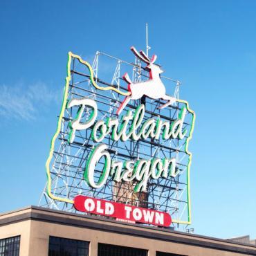OR Portland sign
