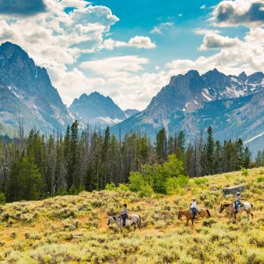 Horse riding at Redfish Lake - Idaho Tourism credit