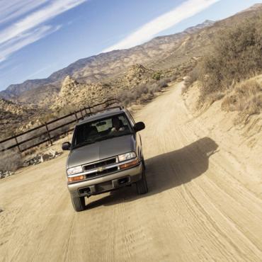 Alamo Jeep on desert road