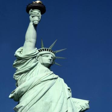 Statue of Liberty blue sky