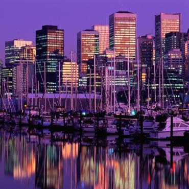 Vancouver purple skyline