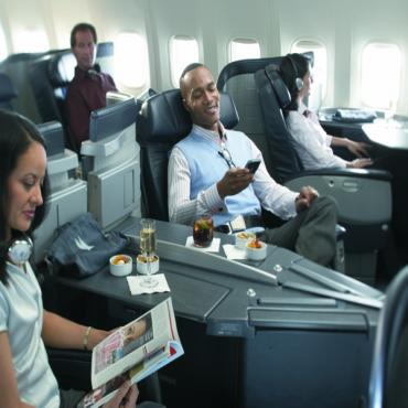 AA First class cabin