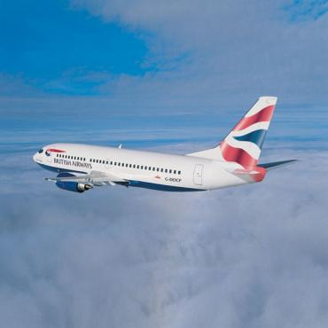 BA Plane in sky