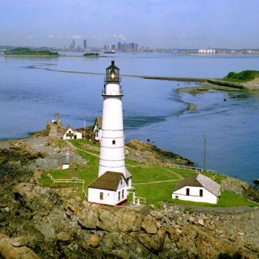 lighthouse and bay view Mass