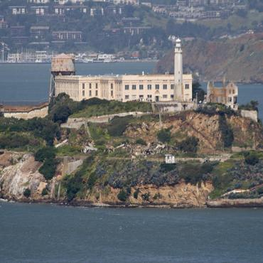Close up of Alcatraz island SFO