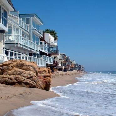 Malibu beach and houses