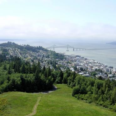 Aerial view Astoria OR