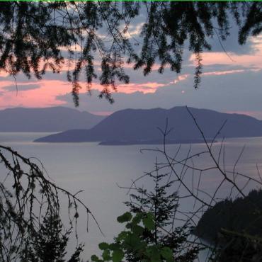 san juan island scenic view