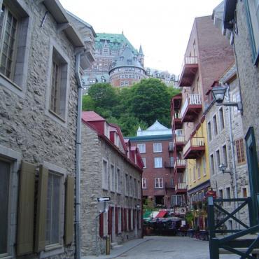 Street scene Quebec