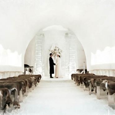Hotel de Glace wedding