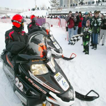 Iron Dog snowmobile race AK