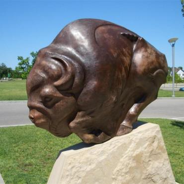 Wichita art museum statue
