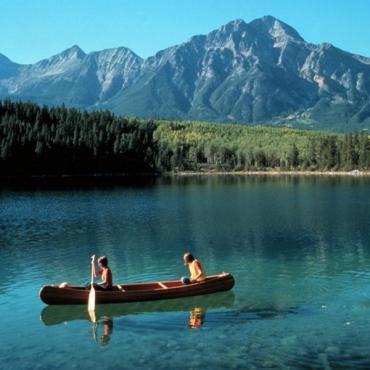 Canoe in summer Jasper