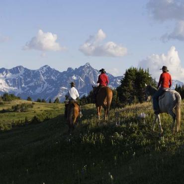 Horse riders Cariboo Chilcotin Coast