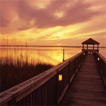 Duck NC pier sunset
