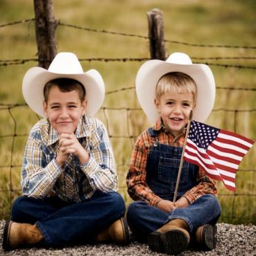 iStock two texan boys