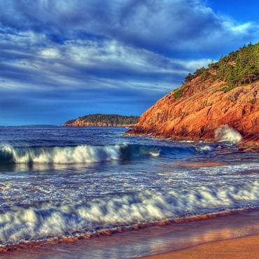 Acadia Natl Park Sand Beach