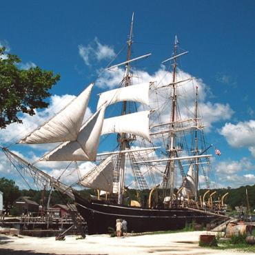 Mystic Seaport CT tall ship