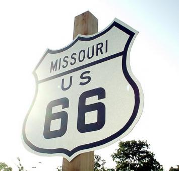 Missouri Route 66 sign