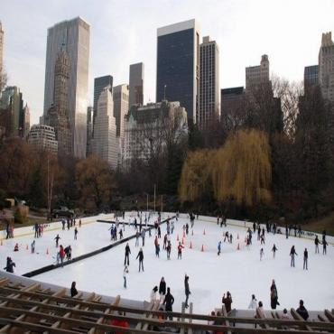 New York Central park ice rink