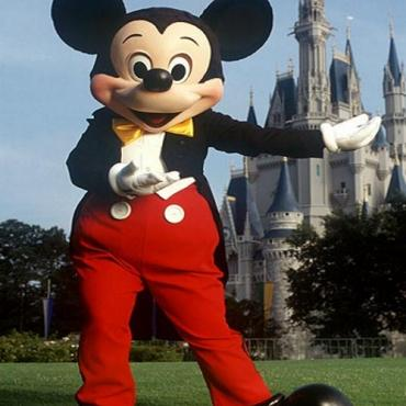 Mickey Mouse and castle