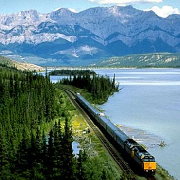 Via rail & lake