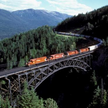 train over bridge BC