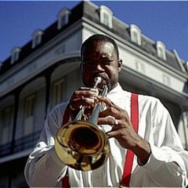 New Orleans trumpet man