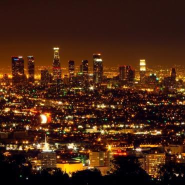 LAX at night