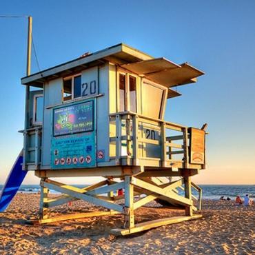 LA lifeguard hut