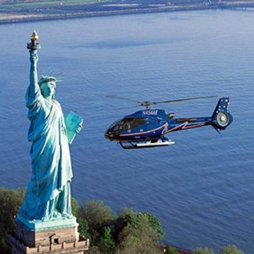 NYC Statue of Liberty helicopter