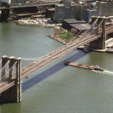NYC Brooklyn Bridge aerial
