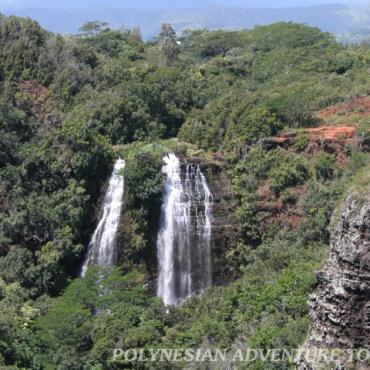 HI PAT Kaui waterfall scenic