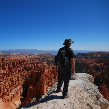 UT Man on top of Bryce Canyon