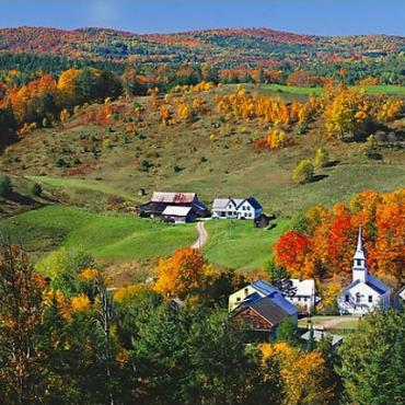 VT countryside in fall