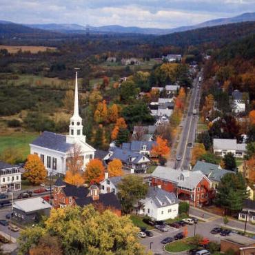 VT Stowe village view