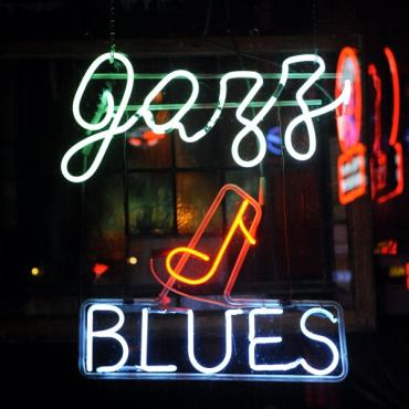 TN Mem Jazz & Blues Sign